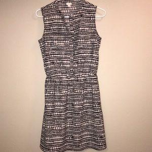 Merona Black and White Geometric Dress